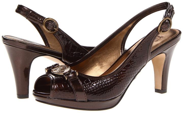 Anne Klein Pepita (Brown Croco) - Footwear