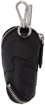 Fendi Black Leather Zip-Around Keychain