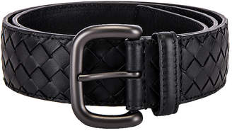 Bottega Veneta Braided Belt in Black | FWRD