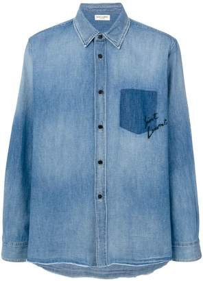 Saint Laurent oversized shadow pocket shirt