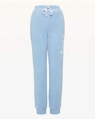 Juicy Couture Embroidered Juicy Microterry Slim Pant