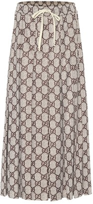 Gucci GG pleated jersey midi skirt