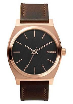 Nixon Time Teller Rose Gold/Gunmetal/Brown Unisex Watch (37mm. Rose Gold/Gunmetal Face/Brown Leather Band)