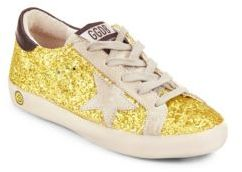 Girl's Suede Glittered Sneakers $265 thestylecure.com