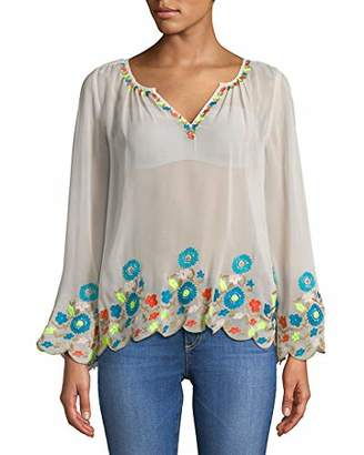 Plenty by Tracy Reese Women's Border Embroidered Peasant