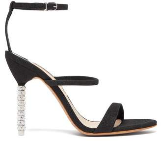 Sophia Webster Rosalind Crystal Embellished Sandals - Womens - Black