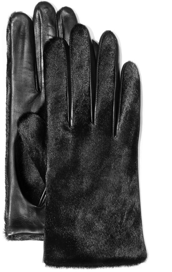 Vince Camuto Classic Haircalf Glove