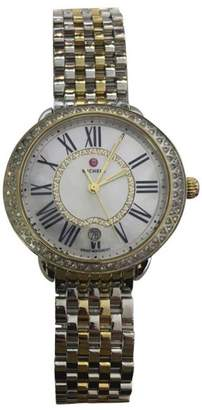 Michele Serein MW21B01C5963 Stainless Steel and 18K Yellow Gold Plated 0.61ct Diamond Bezel 34mm Womens Watch
