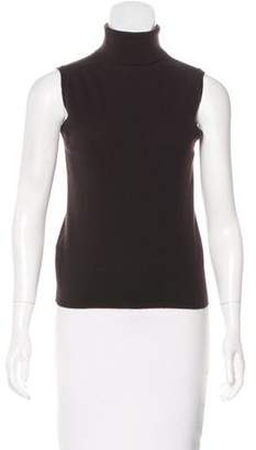 Prada Sleeveless Cashmere Turtleneck