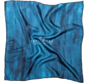 Mess Of Blues Blues Italian Silk Handkerchief