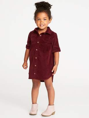 Old Navy Corduroy Shirt Dress for Toddler Girls