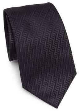 Giorgio Armani Silk Chevron Pattern Tie