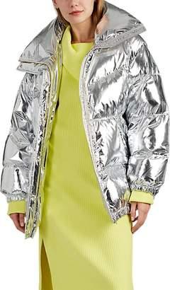 MM6 MAISON MARGIELA Women's Convertible Coated Metallic Puffer Jacket