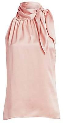 Zimmermann Women's Tie-Neck Silk Halter Blouse
