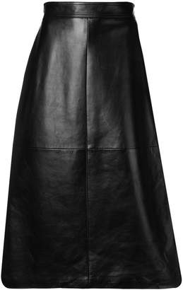 Saint Laurent A-line midi skirt