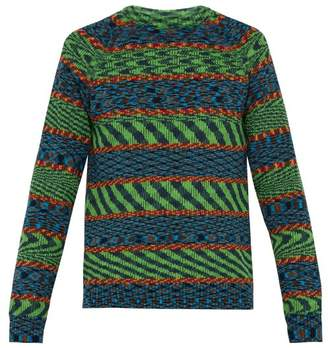 Missoni Cotton Crew Neck Sweater - Mens - Green Multi