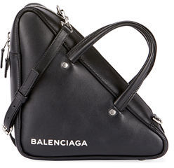 Balenciaga Small Leather Triangle Duffle Bag $1,545 thestylecure.com