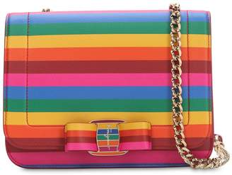 Salvatore Ferragamo Rainbow Leather Shoulder Bag