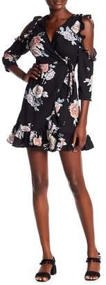 Romeo & Juliet Couture Floral Cold Shoulder Dress