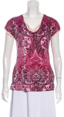 Just Cavalli Printed V-Neck T-Shirt