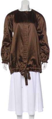 Alberta Ferretti Satin Short Coat