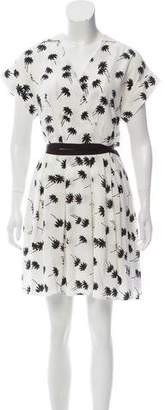 Band Of Outsiders Pleated Silk Dress