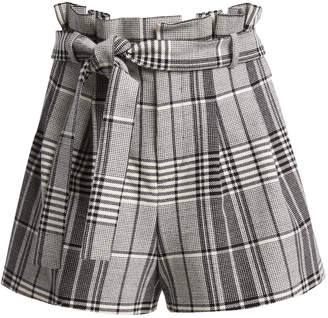 Alice + Olivia LAURINE PLAID SHORTS