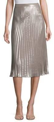 Saks Fifth Avenue COLLECTION Metallic Pleated Skirt