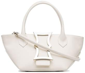 Dorateymur white mini lament leather tote bag