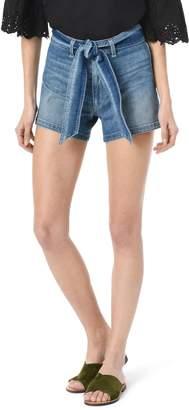 Joe's Jeans Belted High Waist Denim Shorts
