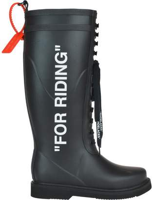 Off-White Off White For Riding Wellington Boots