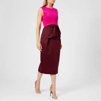 428907a435469f Ted Baker Women s Nikkita Contrast Tulip Bow Midi Dress