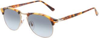 Persol Tortoiseshell-Like Clubmaster Sunglasses