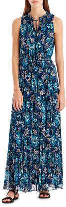 Neiman Marcus Jason Wu Grey Floral-Print Sleeveless Maxi Dress