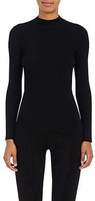 The Row Women's Rib-Knit Mock-Turtleneck Top - Black