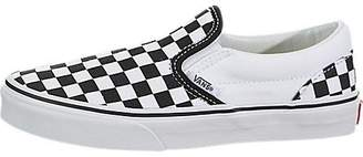 Vans Kids Classic Slip-On (Checkerboard) Skate Shoe 2.5 Kids US