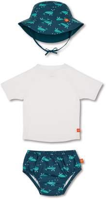 Lassig Two-Piece Rashguard Swimsuit & Hat Set