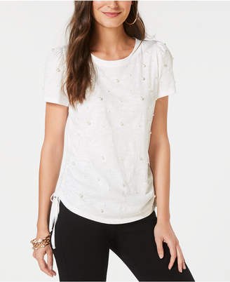 INC International Concepts I.n.c. Cotton Pearl Stud T-Shirt