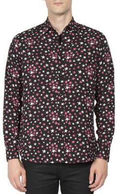 Saint Laurent Multi-Color Star Printed Shirt $850 thestylecure.com