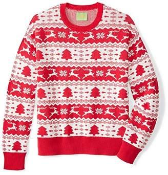 Ugly Fair Isle Unisex Jacquard Crewneck Christmas Sweater