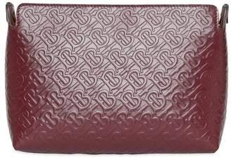 Burberry Medium Monogram Leather Clutch