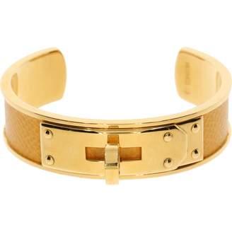 Hermes Vintage Kelly Yellow Metal Bracelets