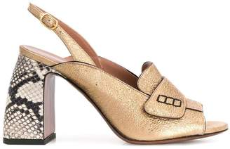 L'Autre Chose slingback open toe loafers