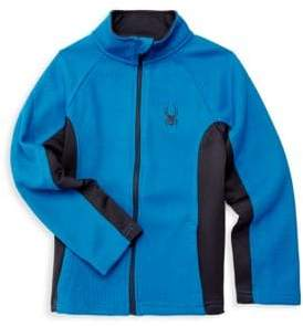 Spyder Boy's Full Zip Raglan-Sleeve Sweater