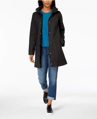 Eileen Fisher Organic Cotton Hidden-Hood A-Line Jacket