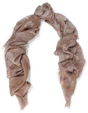 Valentino Printed Cashmere And Silk-blend Gauze Scarf
