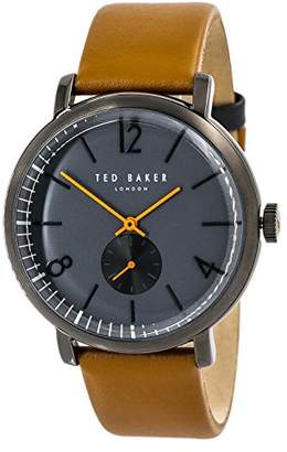 Ted Baker Men's 'Oliver' Quartz Stainless Steel and Leather Dress Watch