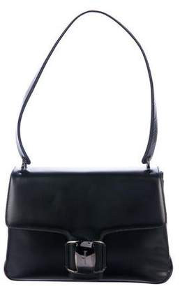 bfa614c85203 Pre-Owned at TheRealReal · Salvatore Ferragamo Leather-Trimmed Shoulder Bag