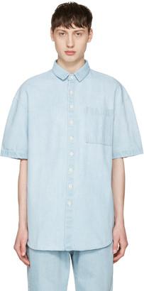 Sunnei Blue Denim Pocket Shirt $285 thestylecure.com