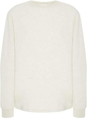 Frame Heathered Cotton-Jersey Sweatshirt
